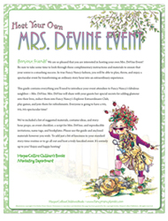 Host your own Mrs. DeVine event. Fancy Nancy: Explorer Extraordinaire!