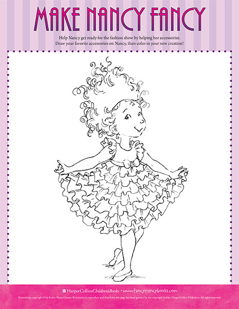 Fancy Nancy Printable Activities