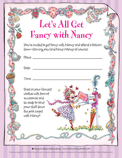 Very How to Host Your Own Fancy Fashion Show! | Fancy Nancy Party Tips  JD45